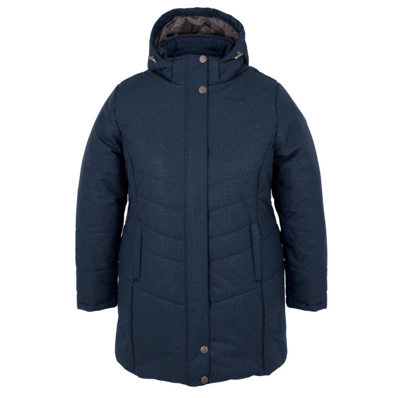 Vogue bleu minuit, manteau pour femmes grandes tailles