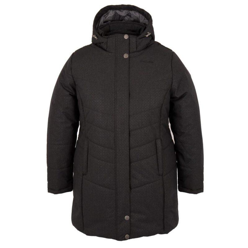 Vogue noir, manteau pour femmes grandes tailles