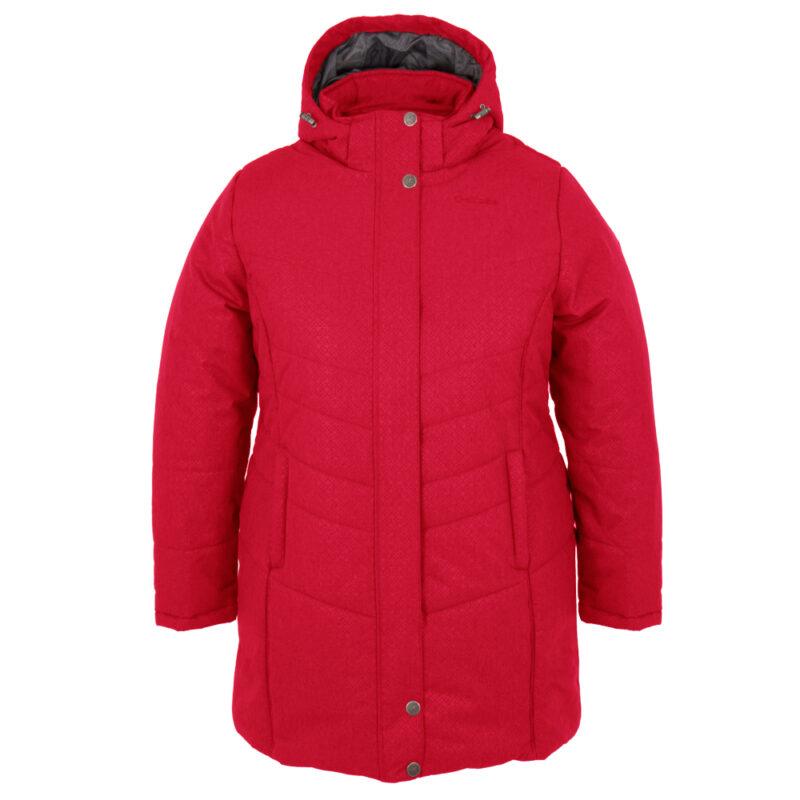 Vogue rouge, manteau pour femmes grandes tailles