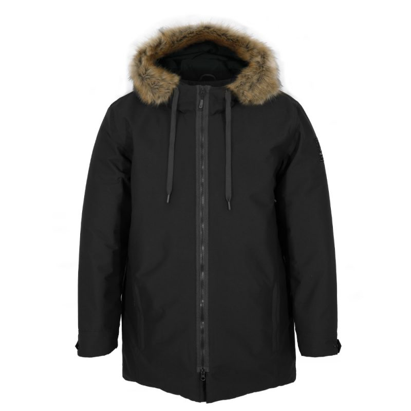 Duck Twill noir, manteau pour hommes
