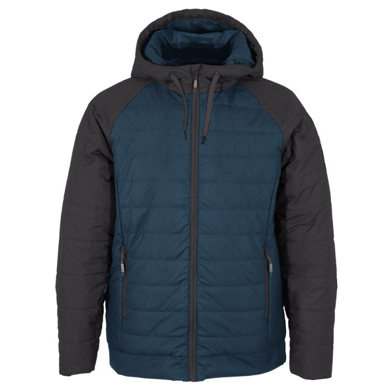 Hoody bleu et anthracite, manteau pour hommes