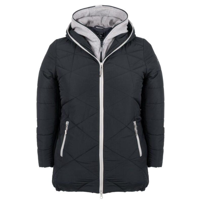 ZIGZAG anthracite manteau pour femmes grandes tailles