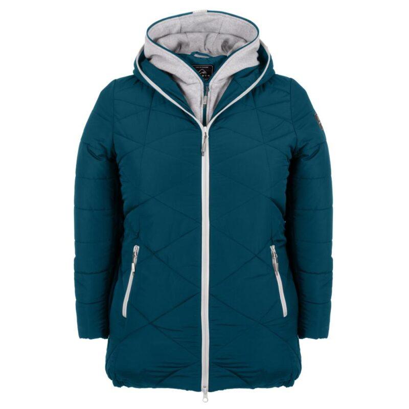 ZIGZAG bleu abysse manteau pour femmes grandes tailles