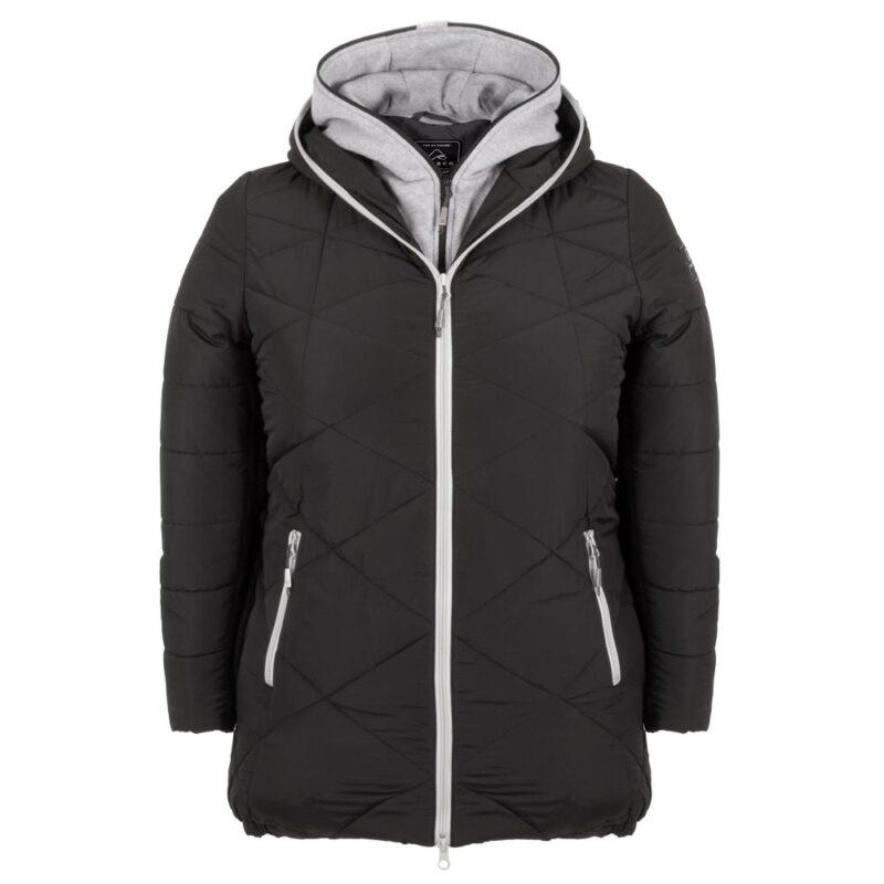 ZIGZAG noir manteau pour femmes grandes tailles