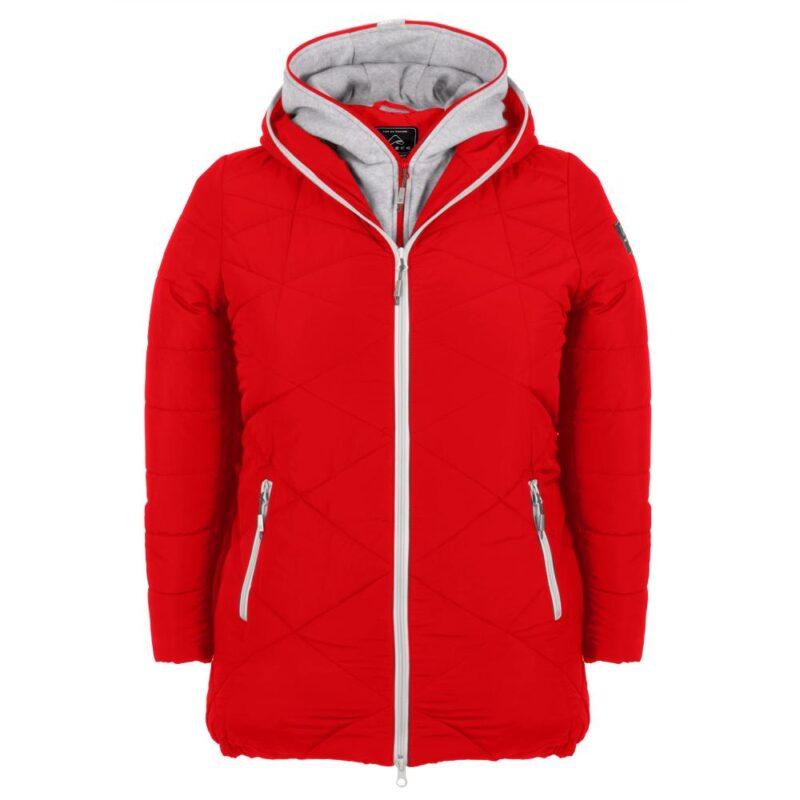 ZIGZAG rouge manteau pour femmes grandes tailles