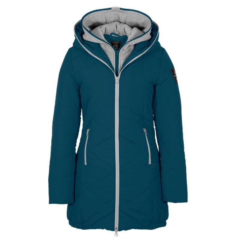 Zigzag bleu abysse, manteau pour femmes