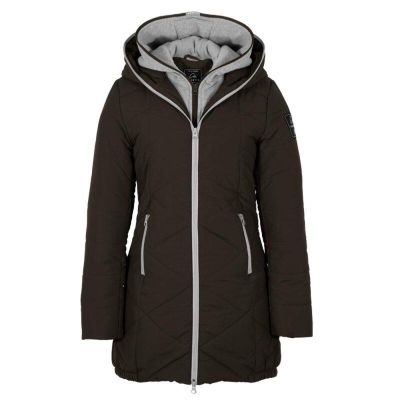 Zigzag noir, manteau pour femmes