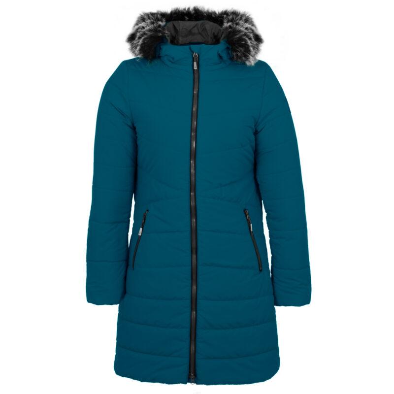 Sparkling bleu, manteau pour femmes