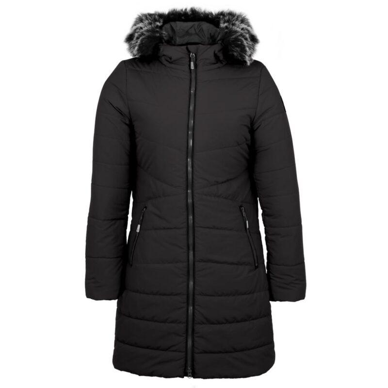 Sparkling noir, manteau pour femmes
