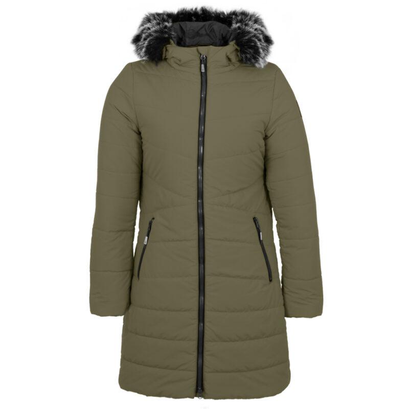 Sparkling olive, manteau pour femmes