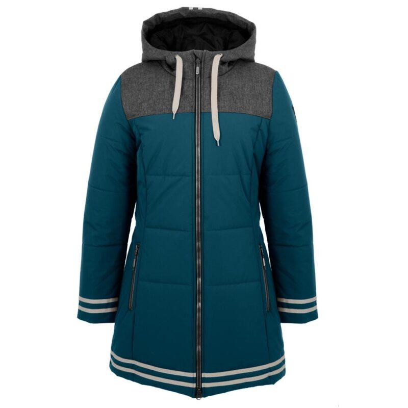 University bleu et anthracite, manteau pour femmes