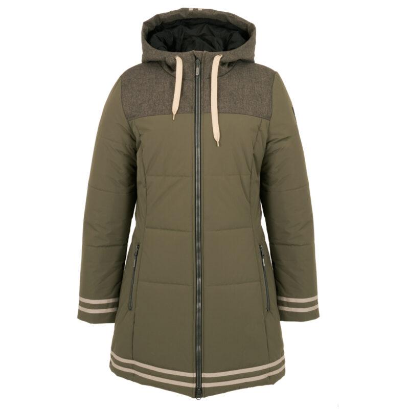 University olive, manteau pour femmes