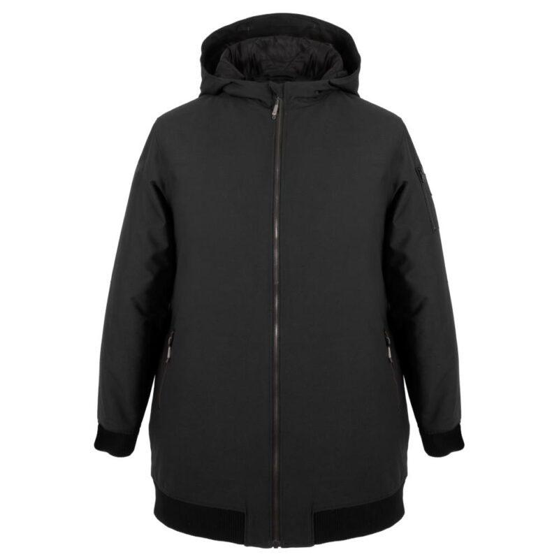 BOMBA noir manteau pour femmes grandes tailles