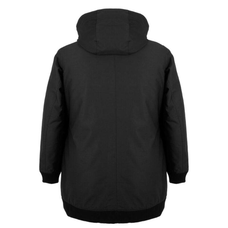 BOMBA noir manteau pour femmes grandes tailles, de dos