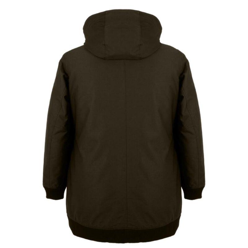 BOMBA sous-bois manteau pour femmes grandes tailles, de dos