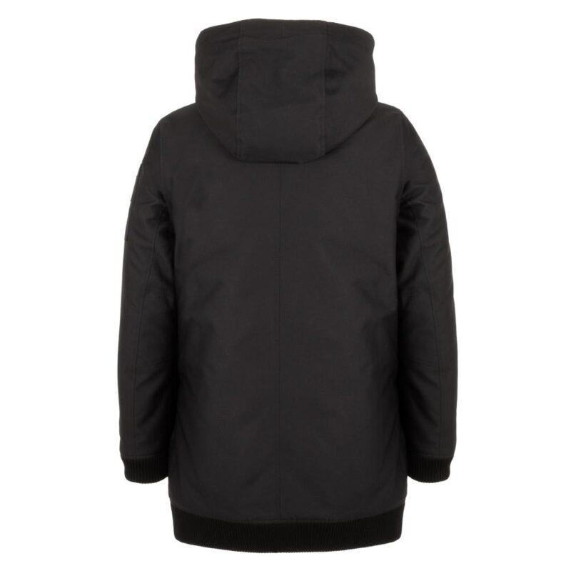 BOMBA noir manteau pour femmes, de dos