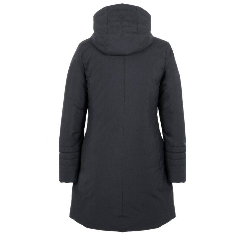 Manteau SLEEK Minuit (bleu), pour femmes, de dos