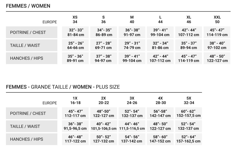 Guide des tailles_FEMME
