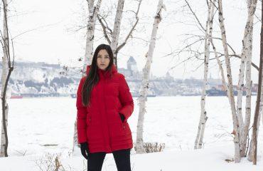 Cocoon rouge Pekin pour femmes